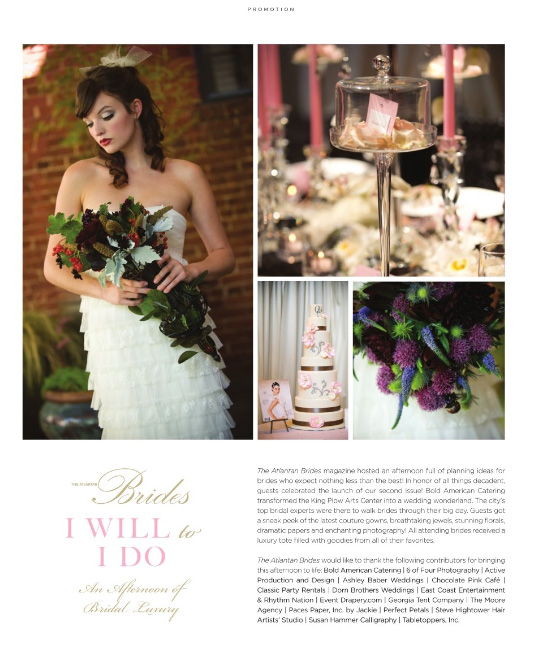 from the event we covered at King Plow for The Atlantan Brides